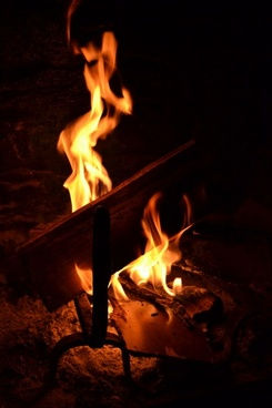 wood flame heat