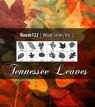 Wood Series Vol. 2 Tennessee Leaves