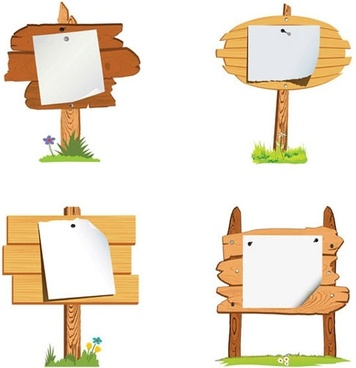 sticker signboard templates classic wooden decor