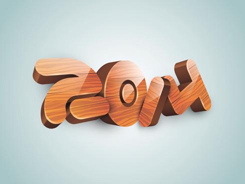 wood texture14 text creative design