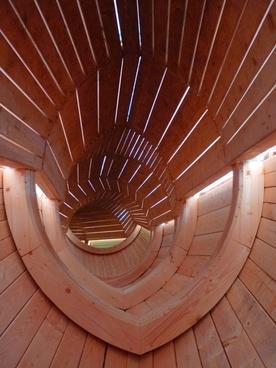 wood tube tunnel
