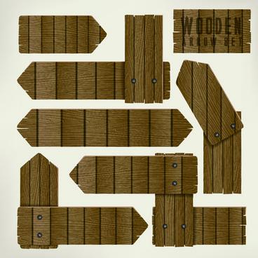 wooden arrows creative vector