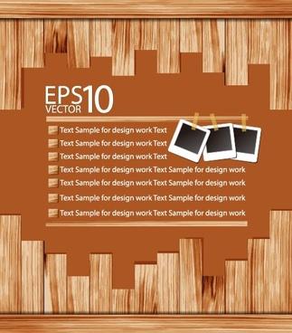 wooden background 02 vector