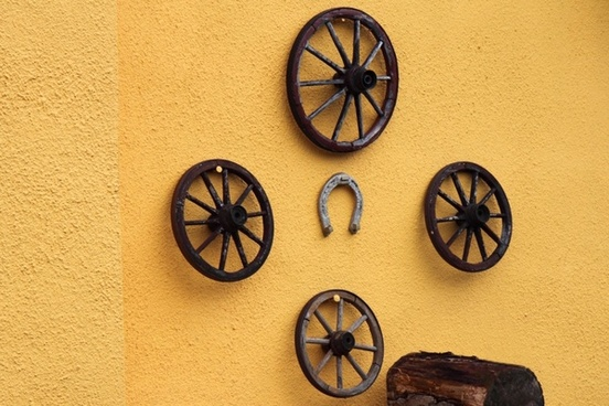 wooden cart wheels