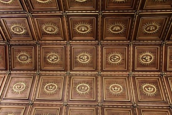wooden church ceiling