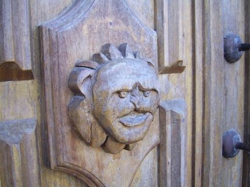 wooden gargoyle