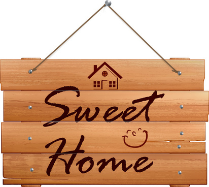wooden home banner