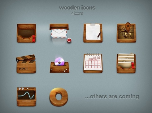 Wooden icons icons pack