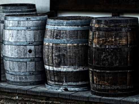 wooden kegs barrel