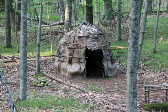 woodland indian dwelling at whitefish dunes state park wisconsin