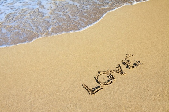 word love in sand