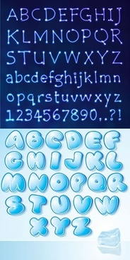 alphabet background templates dark bright blue decor