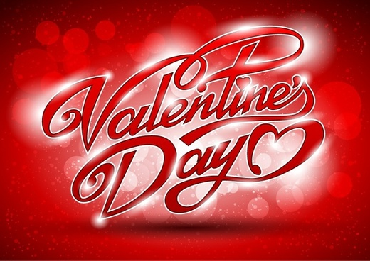 wordart romantic valentine39s day greeting card vector
