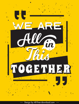 wording quotation banner retro yellow black decor