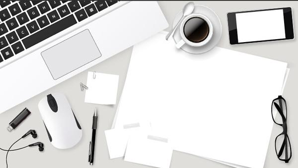 work desktop template design vector