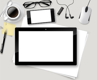 work desktop template design vector