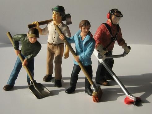 workers figures dolls