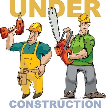 workers in the under construction vector