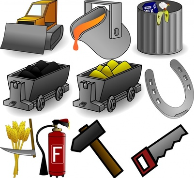 working tool icons set