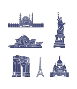world architecture vector