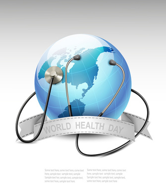world health day design elements vector