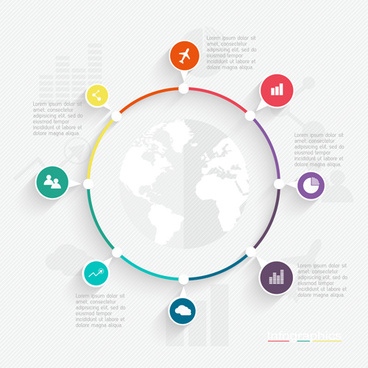 world infographic template vector