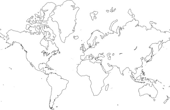 World Map Clip Art Black And White.World Map Clip Art Black And White Free Vector Download 219 913