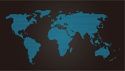 World map free vector download 3594 free vector for commercial world map design blue dots decoration dark style gumiabroncs Images