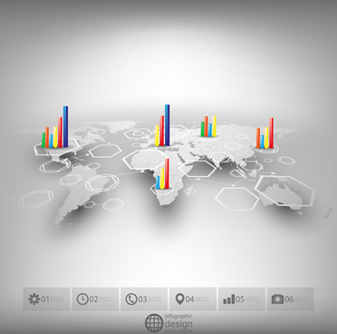 world maps infographics design vectors