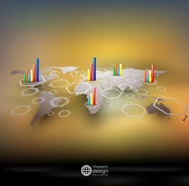 world maps infographics design vectors