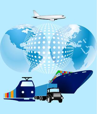 world transport design vector