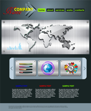 world wide company website templates