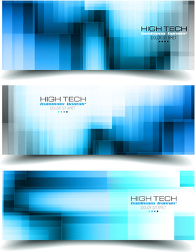 world with high tech banners vector