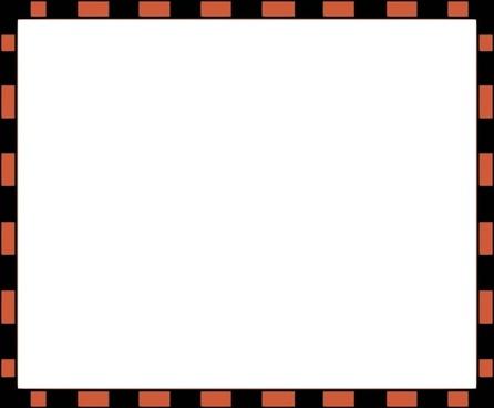Worldlabel Com Border Orange Black X clip art
