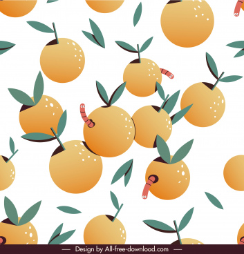 worms oranges pattern colorful classic flat design
