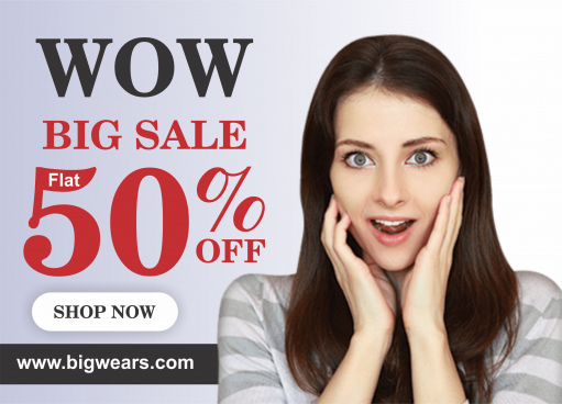 wow big sale post or web banner