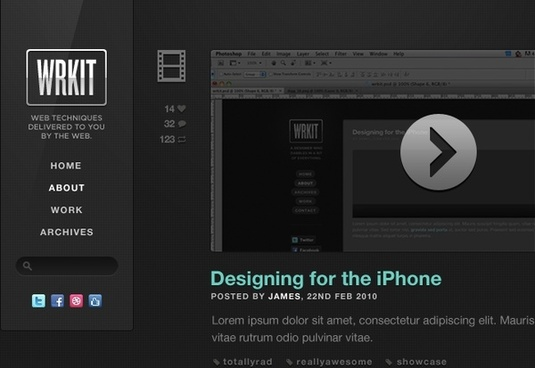 WRKIT Tumblr Theme