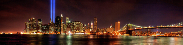 wtc tribute in light panorama