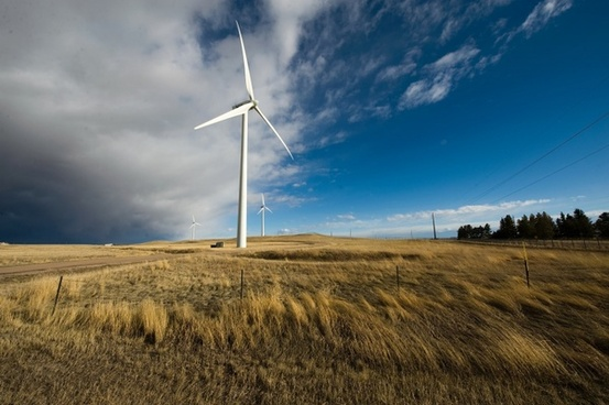 wyoming landscape wind turbines