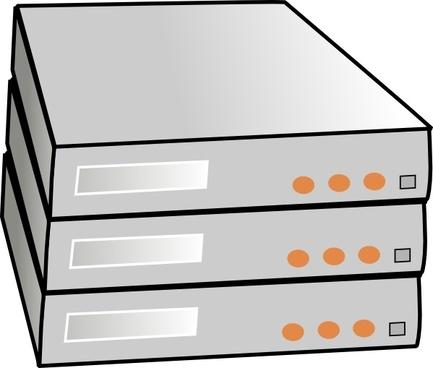 X86 Rack Servers clip art