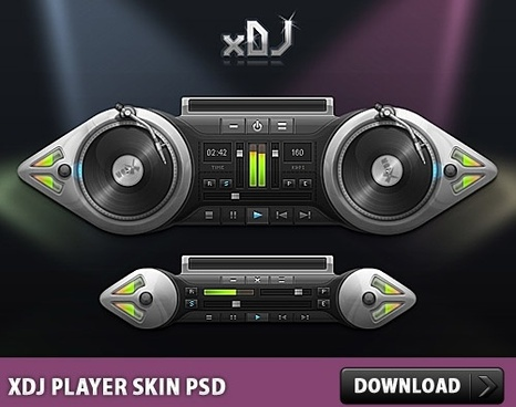 xDJ Player Skin Free PSD