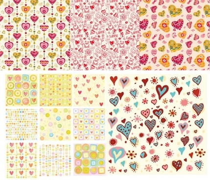 valentines background templates colorful handdrawn hearts decor