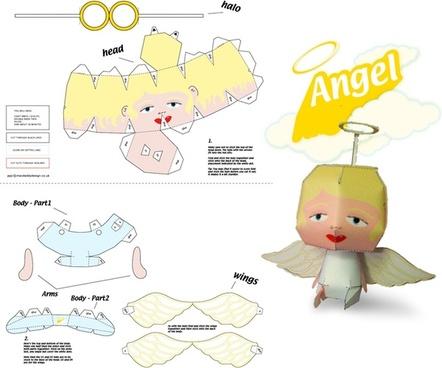 Xmas Angel Paper Craft
