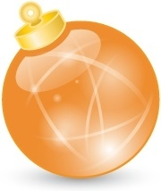 Xmas ball orange