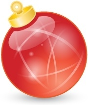 Xmas ball red