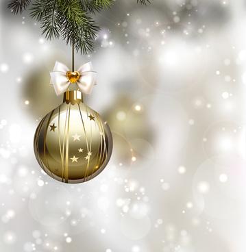 xmas baubles shiny holiday background art