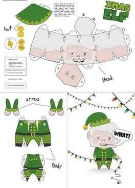 Xmas Elf Paper Craft