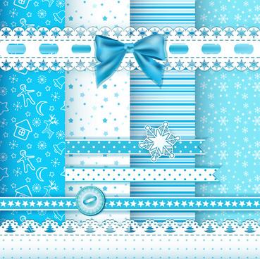 xmas lace ornaments elements vector