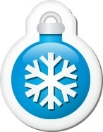 Xmas sticker ball blue