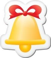 Xmas sticker bell